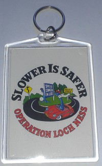 Slower Is Safer Keytag